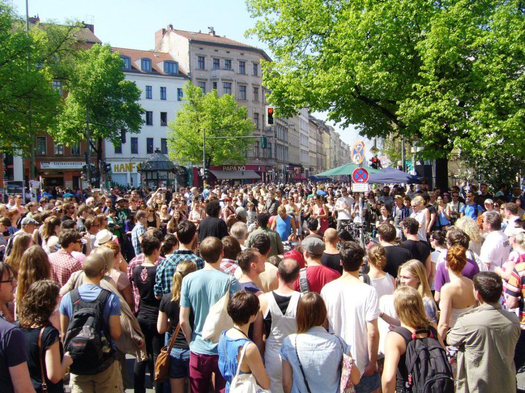 Menschenmenge bei dem MyFest