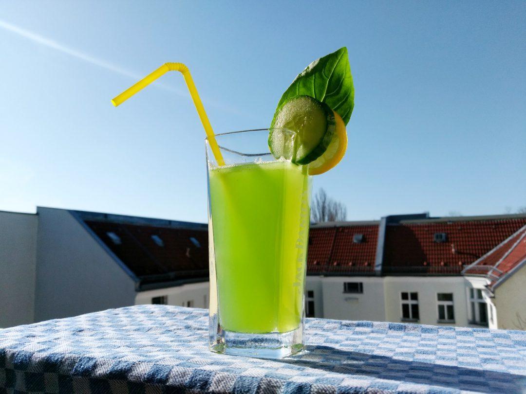 Grüne Frühlingsanfang-Limo